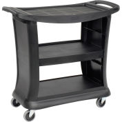 "Rubbermaid 9T68 Black Executive Service Cart 39 x 21 x 38 300 Lb. Capacity, 39""L x 21""W x 38""H"