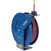 "Spring Rewind Reel For Air/Water, 1/4"" I.D., 50' Hose, 300 PSI,"