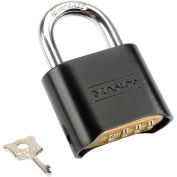 Master Lock No. 178BLK Bottom Combination Padlock, Resettable - Pkg Qty 6