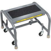 Tri Arc WLSR001163-WM 1 Step Mobile Steel Step Stand w/ Solid Anti-Slip Top Step
