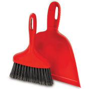 Libman Commercial 906 Dust Pan With Whisk Broom - Red - Pkg Qty 6