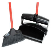 "Libman 36""H Commercial Lobby Broom & 12""W Dust Pan Set, Closed Lid - Pkg Qty 2"