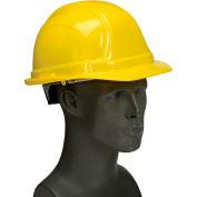 Vulcan Basic Hard Hat with Ratchet Suspension, Polyethylene, One Size, Yellow
