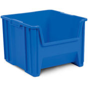 "AKRO-MILS Stak-n-Store Poly Bins - 10-7/8x17-1/2x12-1/2"" - Blue - Pkg Qty 4"