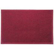 "Waterhog Fashion Mat, 4' x 6' x 3/8"", Red/Black"