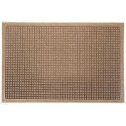 "Waterhog Fashion Mat, 3' x 16' x 3/8"", Med Brown"