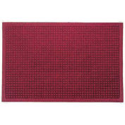 "Waterhog Fashion Mat, 3' x 16' x 3/8"", Red/Black"