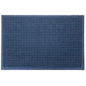 "Waterhog Fashion Mat, 3' x 16' x 3/8"", Med Blue"