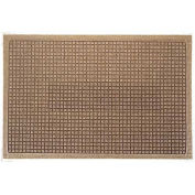 "Waterhog Fashion Mat, 4' x 12' x 3/8"", Med Brown"