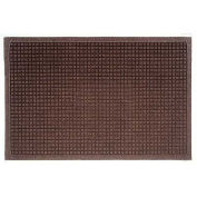 """Waterhog Fashion Mat, 3' x 8' x 3/8"""", Dark Brown"""
