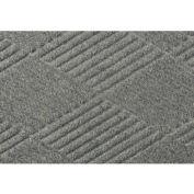 "Waterhog Fashion Mat, 3' x 8' x 3/8"", Med Gray"
