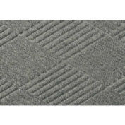 "Waterhog Classic Diamond Mat, 3' x 8' x 3/8"", Med Gray"