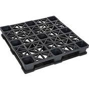 Rackable Plastic Pallet, 43x43x6-3/8