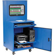 Deluxe LCD Industrial Computer Cabinet, Blue