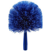 Carlisle 36340414 Flo-Pac Round Duster With Soft Flagged PVC Bristles, Blue - Pkg Qty 12