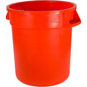 Bronco 10 Gallon Waste Container, Orange - Pkg Qty 6