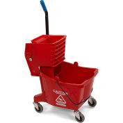 Carlisle 3690805 Mop Bucket & Wringer Combo, 26 Qt, Red