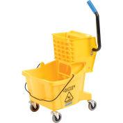 Carlisle 3690804 Mop Bucket & Wringer Combo, 26 Qt, Yellow