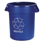 Bronco 32 Gallon Recycling Waste Container, Blue - Pkg Qty 4