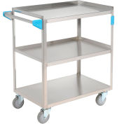 Carlisle Stainless Steel Utility Transportation Cart, 300 Lb. Cap., 3 Shelf, 18x27