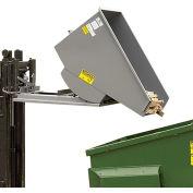 "MECO All-Welded Self-Dumping Steel Hoppers - 10-Gauge Steel - 49-1/2""Lx29""Wx26""H - Gray"