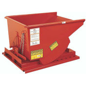 "MECO All-Welded Self-Dumping Steel Hoppers - 7-Gauge Steel - 69-1/2""Lx59""Wx44""H - Dark Orange"