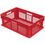 """Akro-Mils 37608 Straight Wall Container Mesh Sides & Base 23-3/4""""L x 15-3/4""""W x 8-1/4""""H / Red - Pkg Qty 4"""