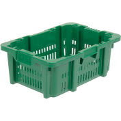 """LEWISBINS+ Ventilated Stack and Nest Container - 23.9x18.7x8.8"""" - Pkg Qty 5"""