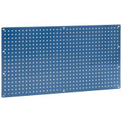 "Heavy Duty Steel Pegboard, Blue, 36"" x 19"""