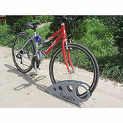 "Boot Bike Rack, Galvanized Steel, 25-5/8""L x 2-5/8""W x 11-1/16""H"
