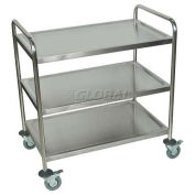 "LUXOR Stainless Steel Transport Cart, 37""H"