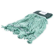Carlisle 369478B09 Flo-Pac Medium Looped-End Mop With Green Band, Green - Pkg Qty 12