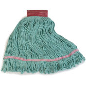 Carlisle 369484B09 Flo-Pac Large Red Band Mop With Looped-End, Green - Pkg Qty 12
