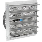 "Direct Drive Exhaust Ventilation Fan With Shutter 24"" 2-Speed With Hardware, Steel/Aluminum"
