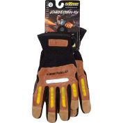 Maximum Safety® Journeyman KV, Professional Workman's Glove, Brown, M, 1 Pair