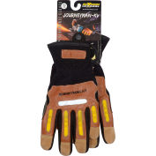 Maximum Safety® Journeyman KV, Professional Workman's Glove, Brown, XL, 1 Pair