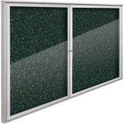 "Balt® Weather Sentinel Outdoor Enclosed Cabinet - 2 Doors - 72""W x 48""H Green"