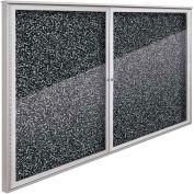 "Balt® Weather Sentinel Outdoor Enclosed Cabinet - 2 Doors - 72""W x 48""H Black"