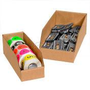 """Kraft Corrugated Open Top Bin Boxes, 6"""" x 12"""" x 4-1/2"""", BINMT612K - Pkg Qty 50"""