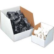 "Jumbo Open Top White Corrugated Boxes, 8"" x 24"" x 12"", BINJ82412 - Pkg Qty 25"
