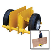 "VESTIL Adjustable Plate & Slab Dolly, 8"" Rubber Wheels 1000 Lb. Cap."