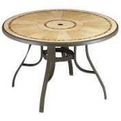 "Louisiana 48"" Round Outdoor Table - Bronze"