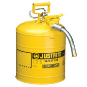 "Justrite 7250230 Safety Can Type II Accuflow™ 5 Gallon Galvanized Steel W/ 1"" Hose"