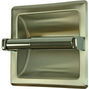 Frost Standard Recessed Toilet Tissue Holder, Stainless Steel