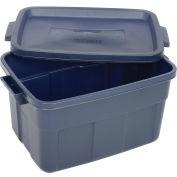 Roughneck Tote 14 Gallon, Dark Blue - Pkg Qty 6