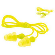 3M Tri-Flange Earplugs, Corded, Hearing Conservation, 100-Pairs