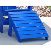 Traditional Adirondack Ottoman, Blue