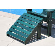 Traditional Adirondack Ottoman, Green