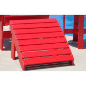 Traditional Adirondack Ottoman, Red