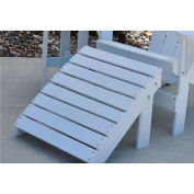 Traditional Adirondack Ottoman, White